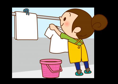 洗濯ものを干す