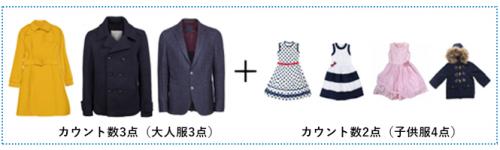 子供服のカウント方法