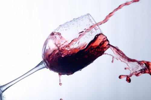 ワインによるシミ