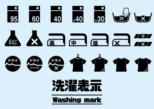 衣類タグの洗濯表示