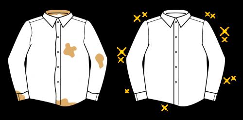 ワイシャツのシミ